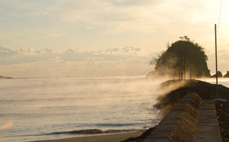 弓ヶ浜の毛嵐