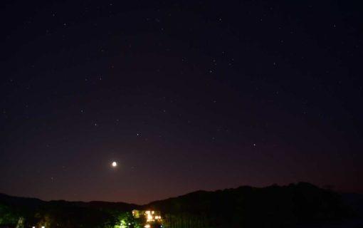 弓ヶ浜海岸の星空